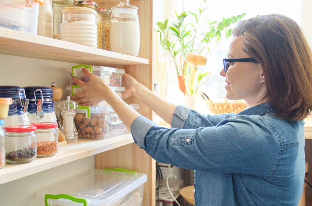 Keep Your Kitchen Tidy with Organized Shelves and Cabinets